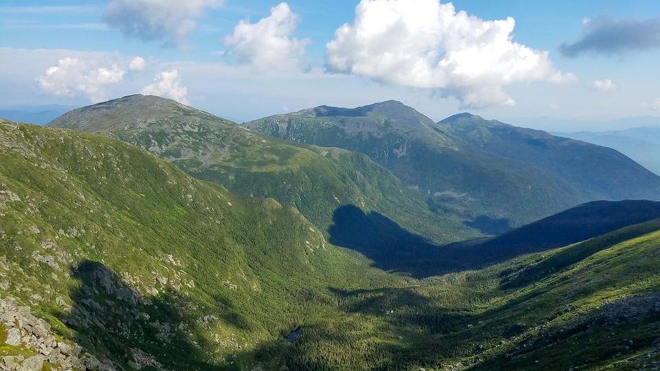 Presidential peaks of the white mountains
