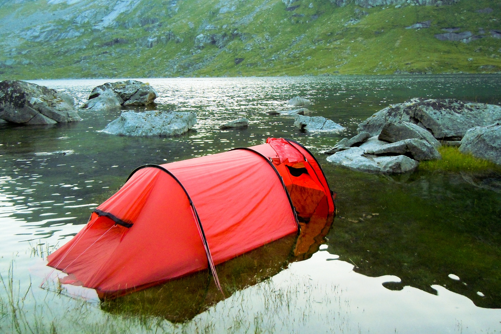 swamping your tent