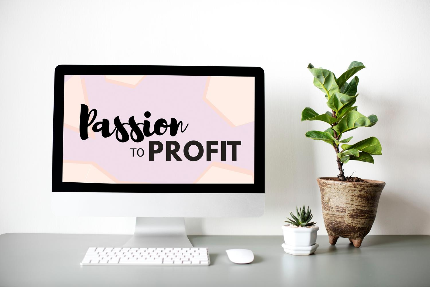 "02. PASSION TO PROFIT - Our signature 8-week master class will give you all the ""HOWTO's"", along with step by-step instruction and coaching for implementation. Includes all the insight and tools you'll need to get your business on the right track, and on the path to profitability! Perfect for the go-getter with an open mind."