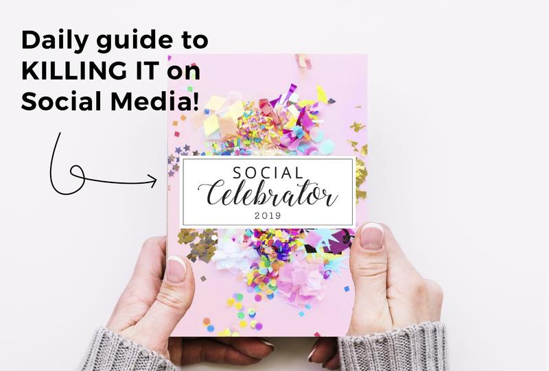 WHY YOU NEED THE SOCIAL CELEBRATOR - A 30-day guide full of ALREADY-MADE-FOR-YOU social media captions, pictures, dates, holidays and hashtags!