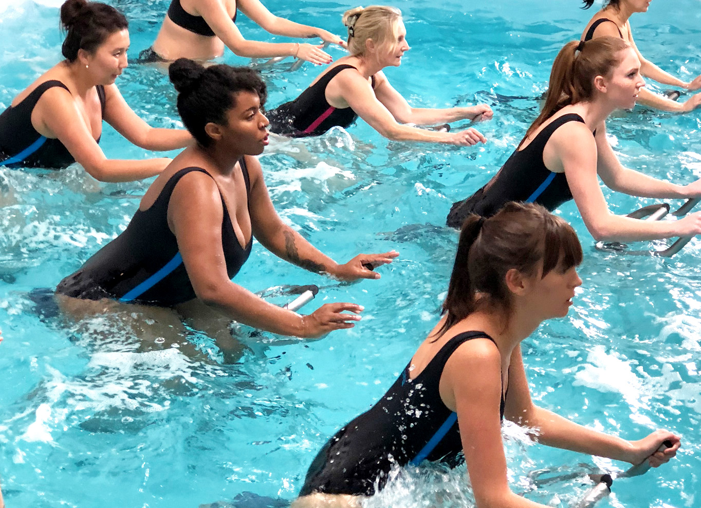 AQUA CLASSES - Intimate Candlelit Small Size classes of 1445 min. Open to all.VIEW ALL CLASSES +
