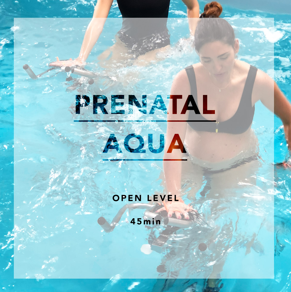 AQUACYCLING - All AQUA classes are open and safe to expecting moms. Feel free to book any of them and inform your trainer so they can provide modifications as needed. Check with your doctor before exercising._Expectant, hopeful expectant, and new moms welcome.
