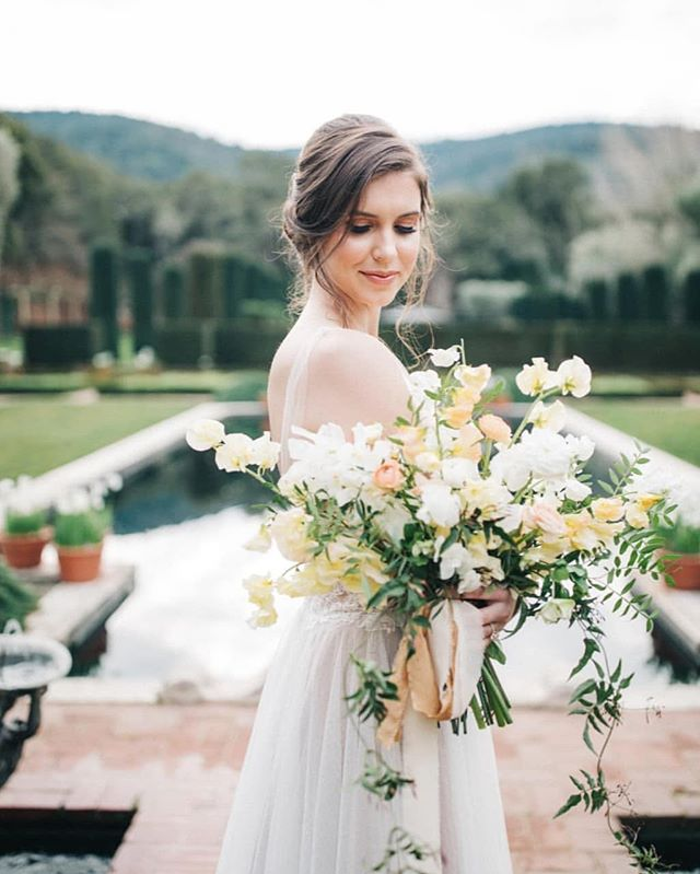H&MU | @facesbyames  Florals: @rustandflourish Venue: @_filoli Model: @anicabottom Dress: @wild_bride Photography: @studioopia Planning: @blooming_wed
