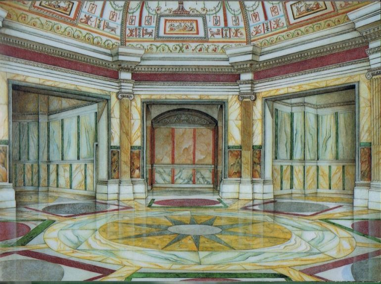 A reconstruction of the famous Octagonal Room.