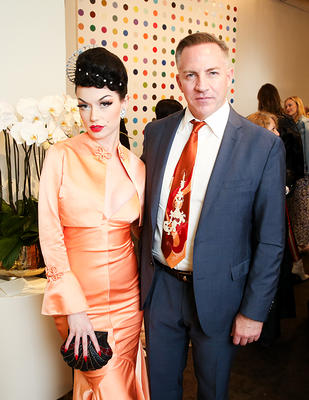 Taz Saunders with Bryona Ashly at an event