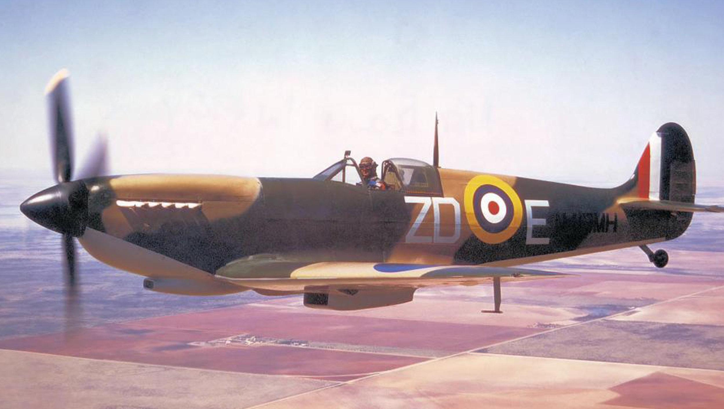 Spitfire MH415 is in the workshops of VFR.