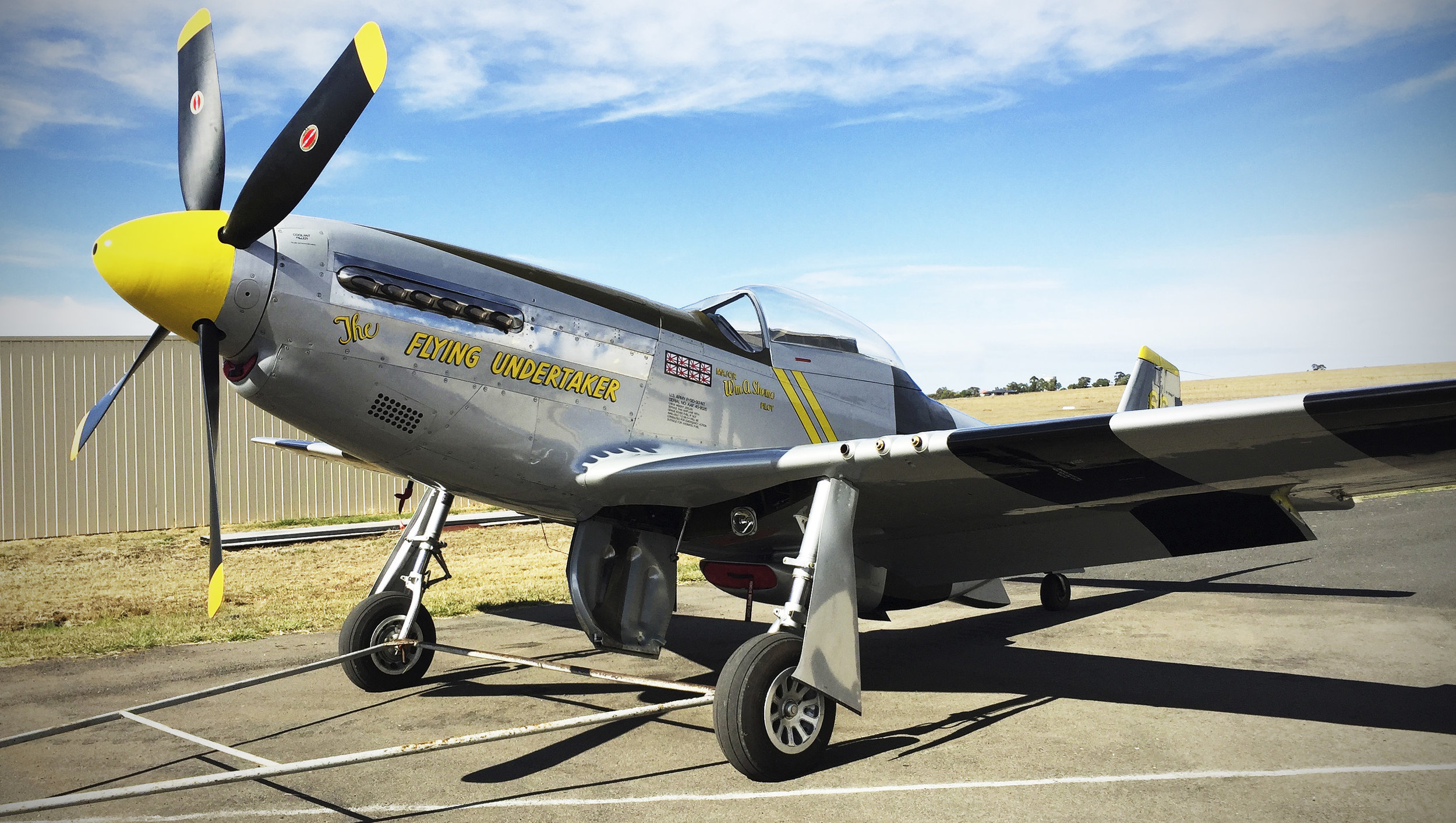 P-51D VH-FST at Scone during 2016.