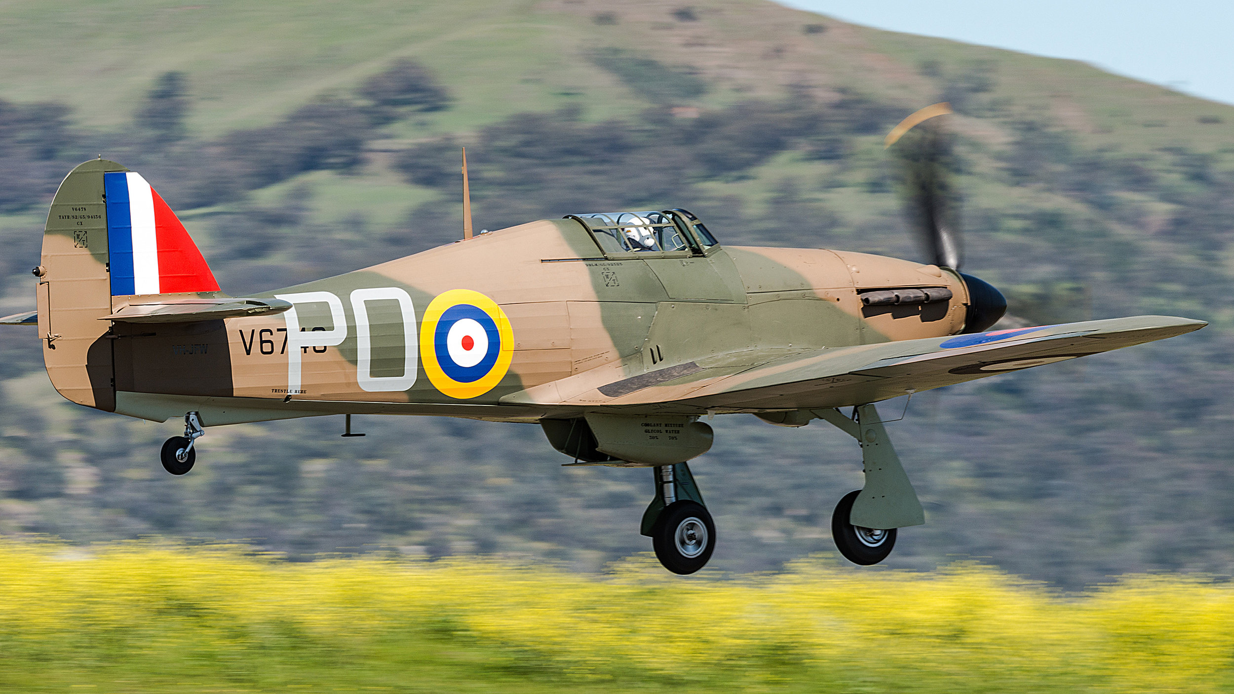 First Hurricane to fly in Australia since WWII