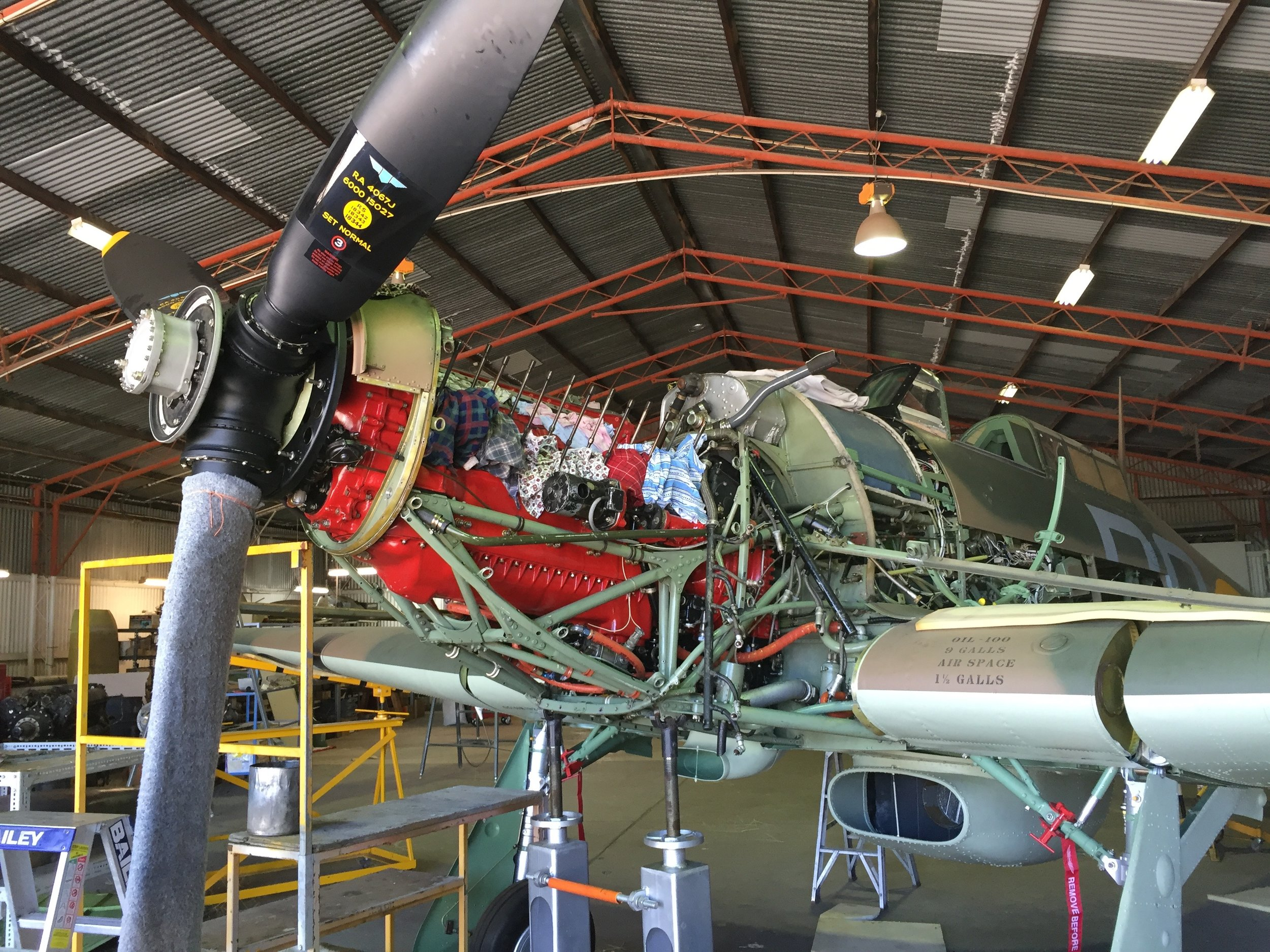 Merlin 500-45 undergoing service