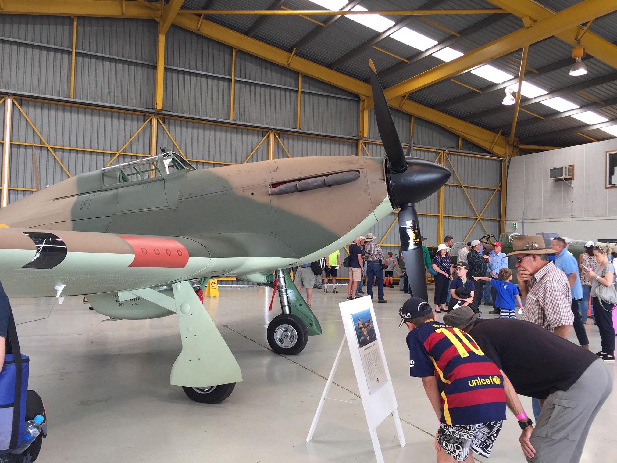 Flight of the Hurricane hangar display