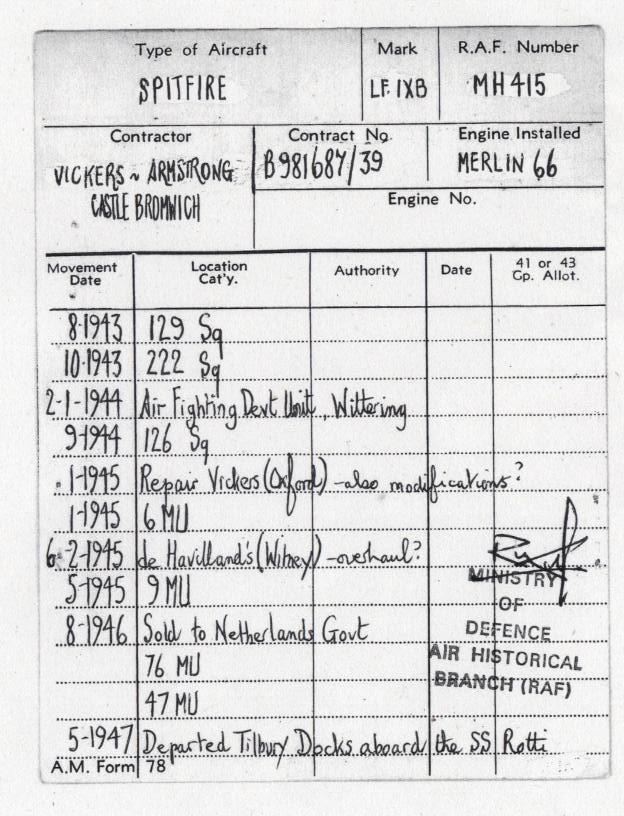 RAF movement records