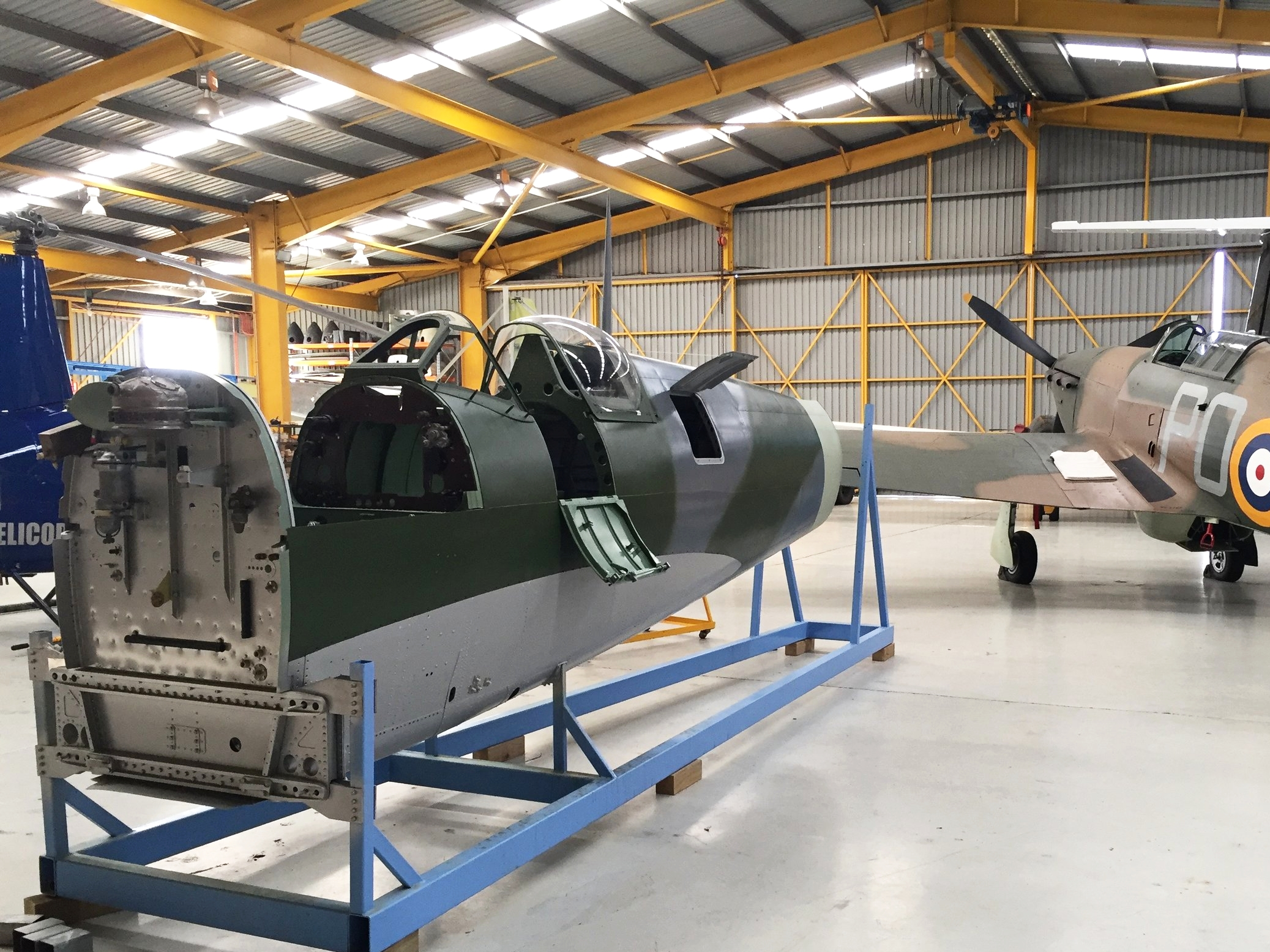 Spitfire MH603's fuselage prior to application of markings  .