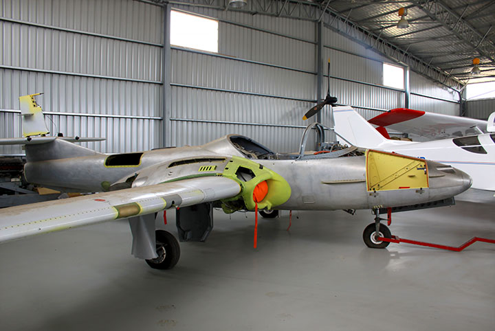 Cessna A-37 during restoration.