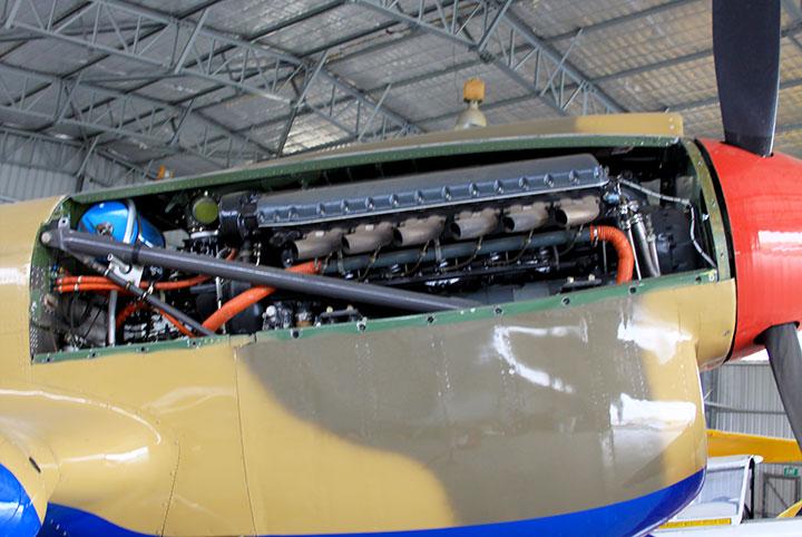 VH-KTY Allison V1710 undergoing maintenance.