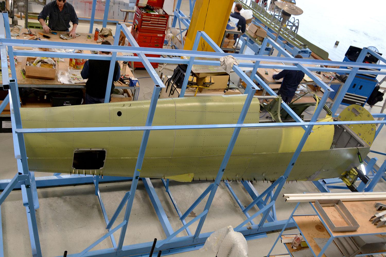 MH 415 fuselage reskinned