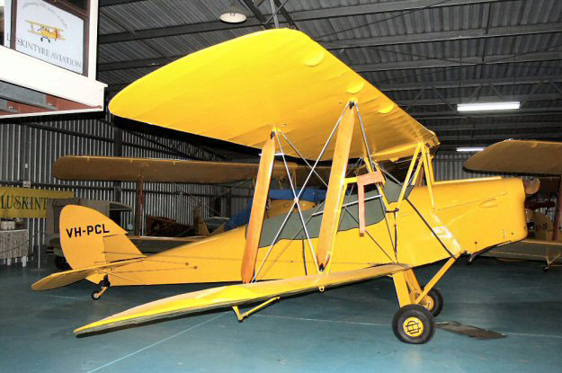 Tiger Moth VH-PCL at Luskintyre in 2008 following restoration