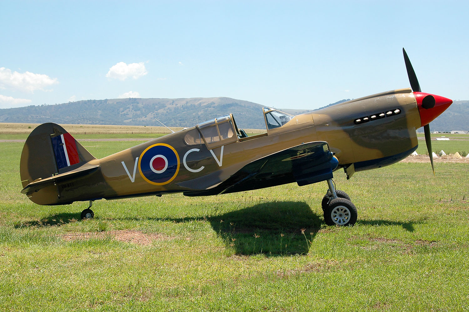 P40E Kittyhawk VH-KTY at Vintage Fighter Restorations, Scone NSW