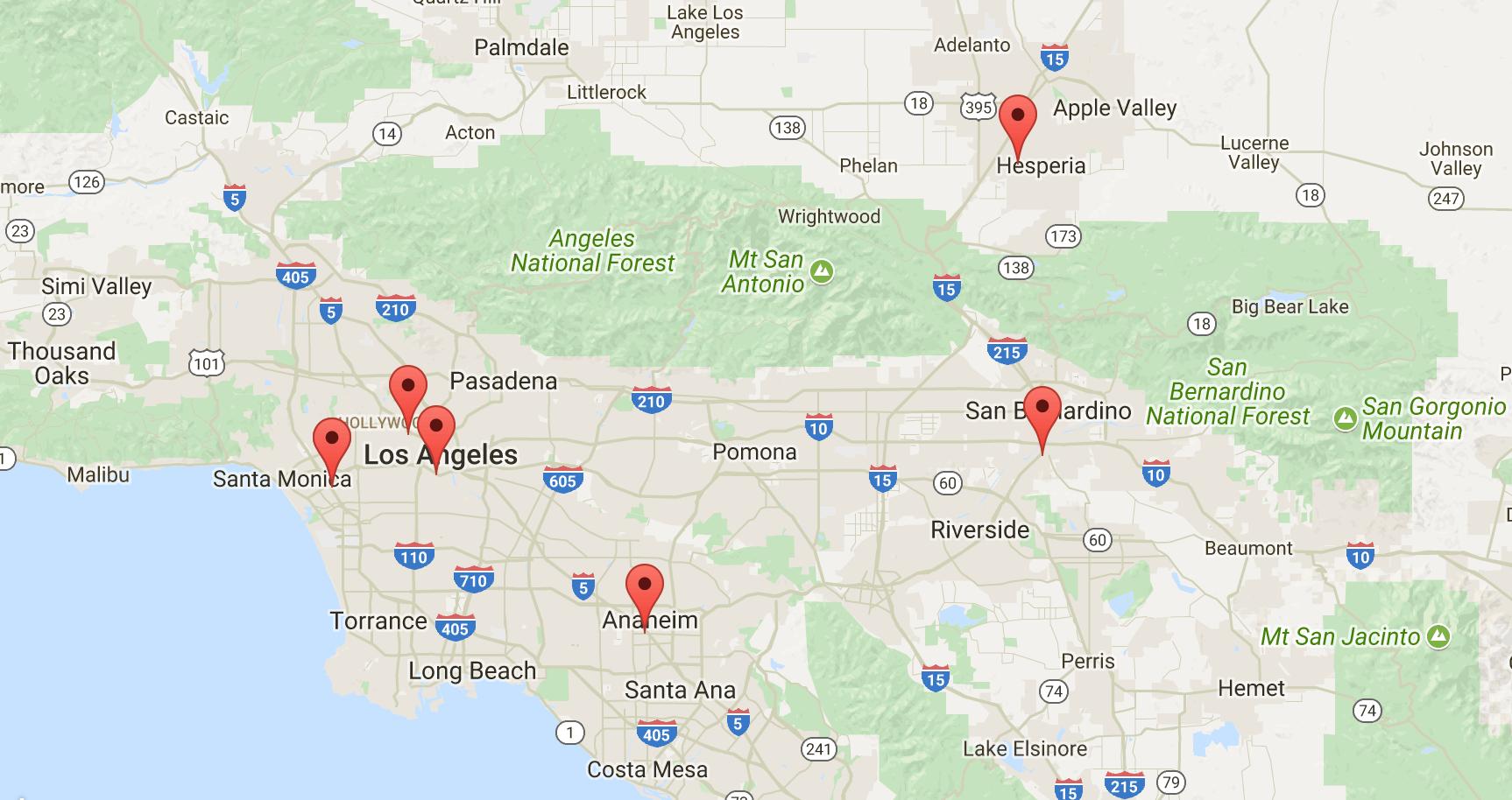 Six new Athena ATMs in and around Los Angeles, Anaheim, San Bernadino, and Hesperia!