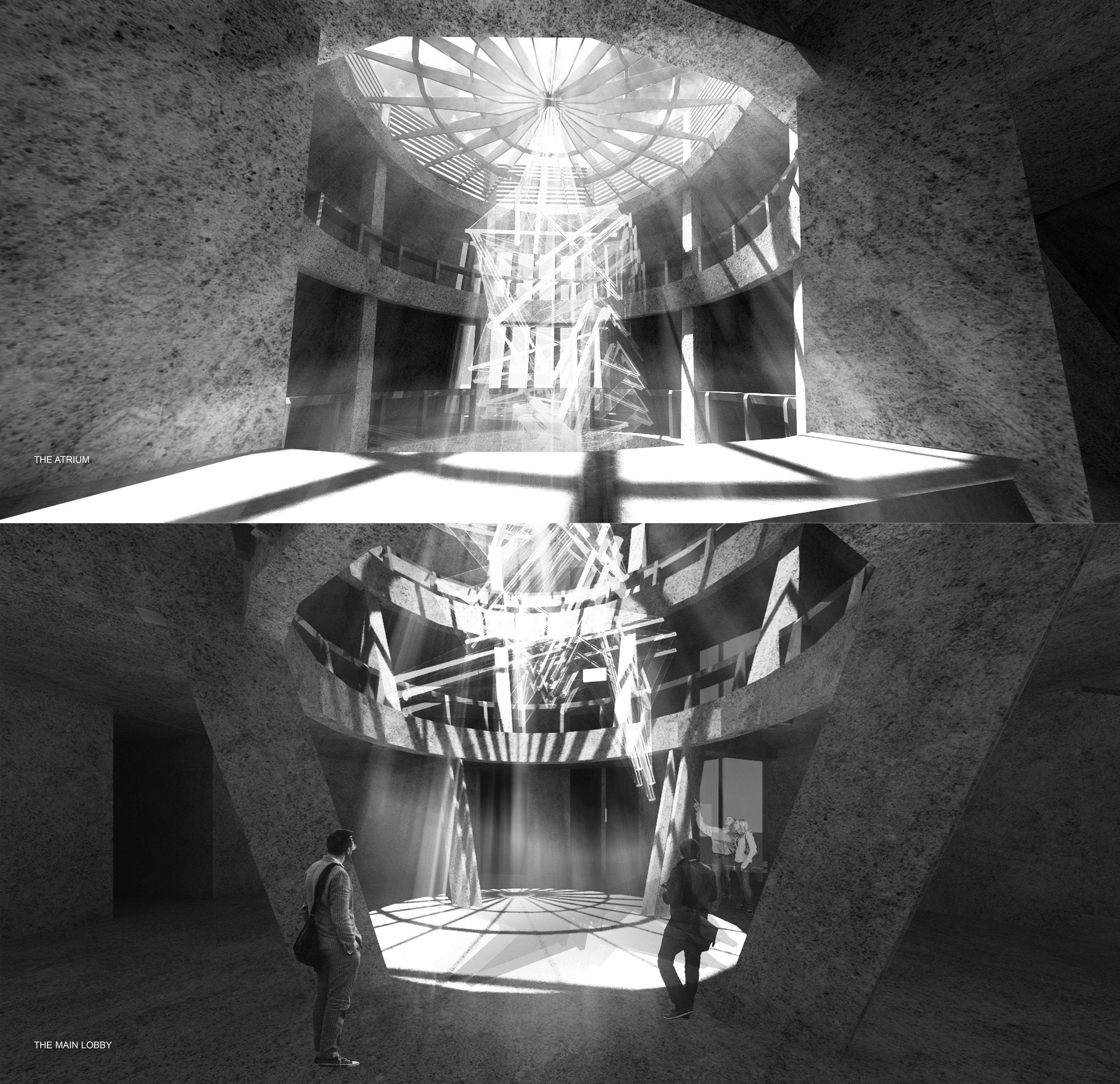 the atrium with hanging scukpture.jpg