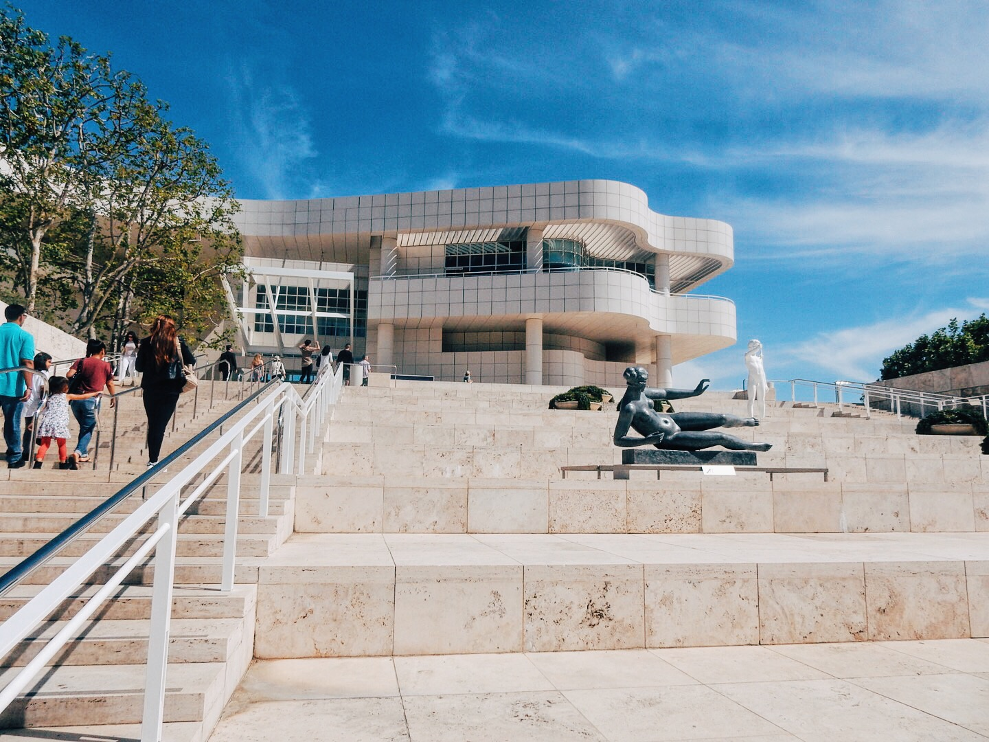 Entrance to the Getty Center