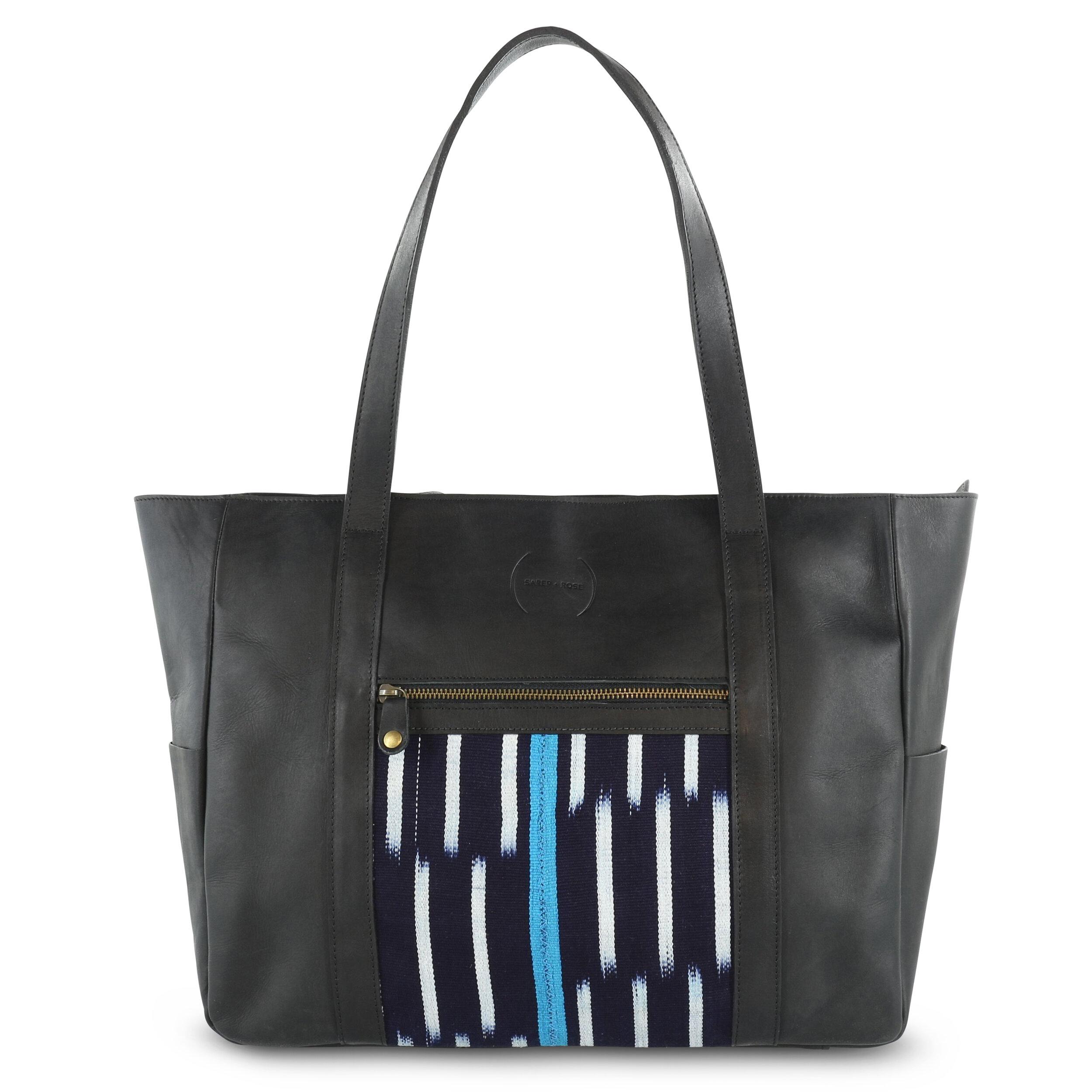 Cara bag_Black w blue tone baoule_front.jpg