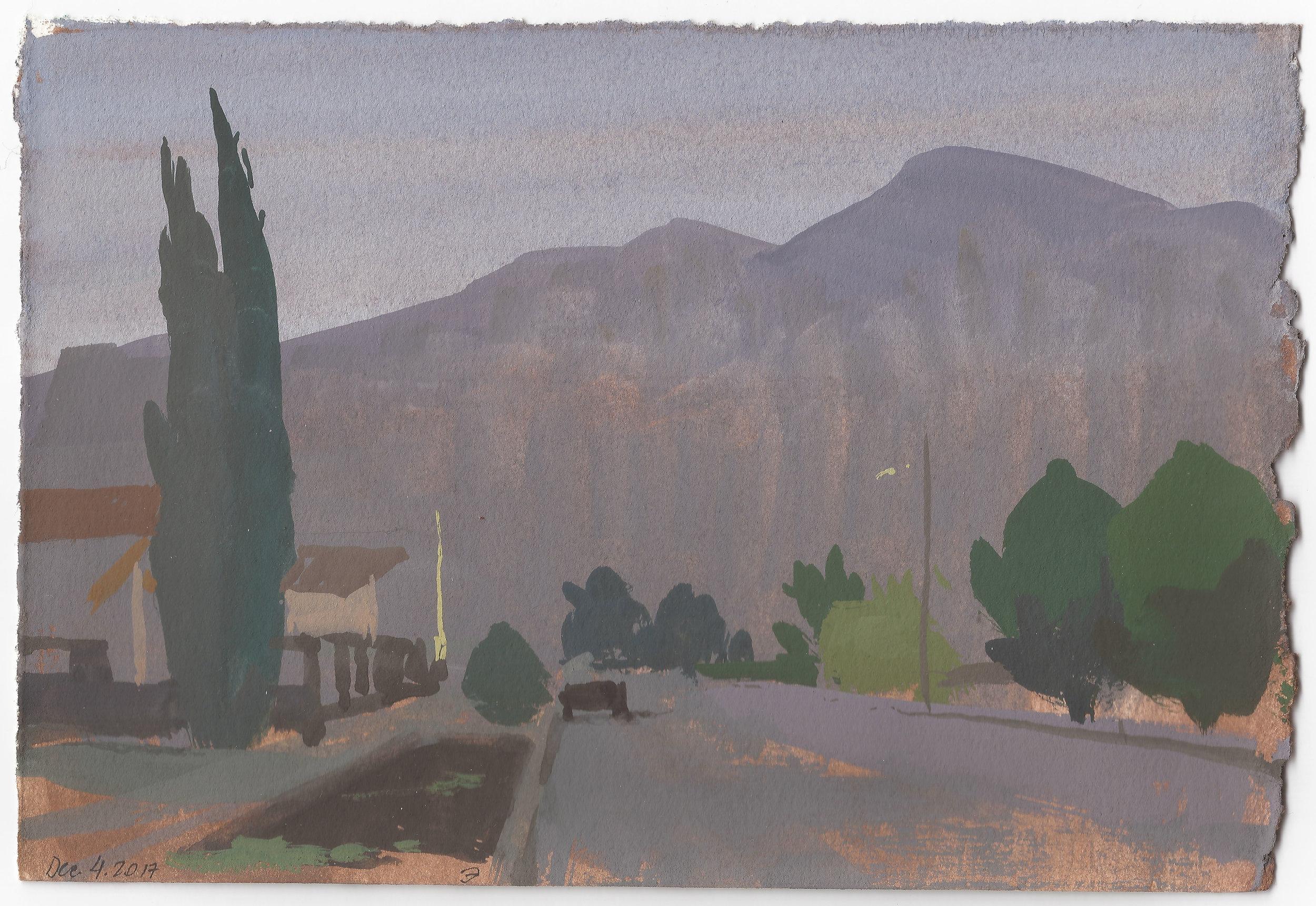 Franklin Mountain In December