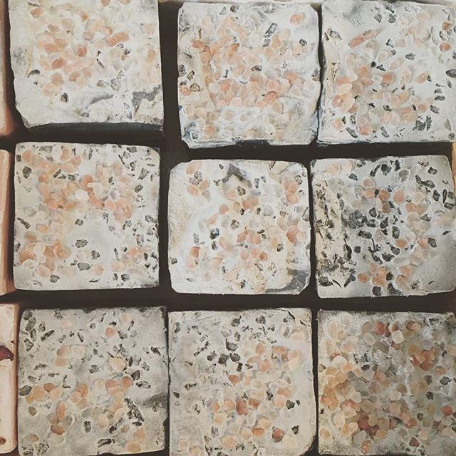 Soaps for the face! Sneak peek. #activatedcharcoal #coldprocesssoap #soap #bubbles #teatreeoil