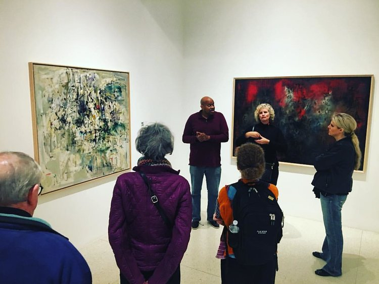 Christopher giving a tour at the Walker Art Center, Photo by J. Wren Supak