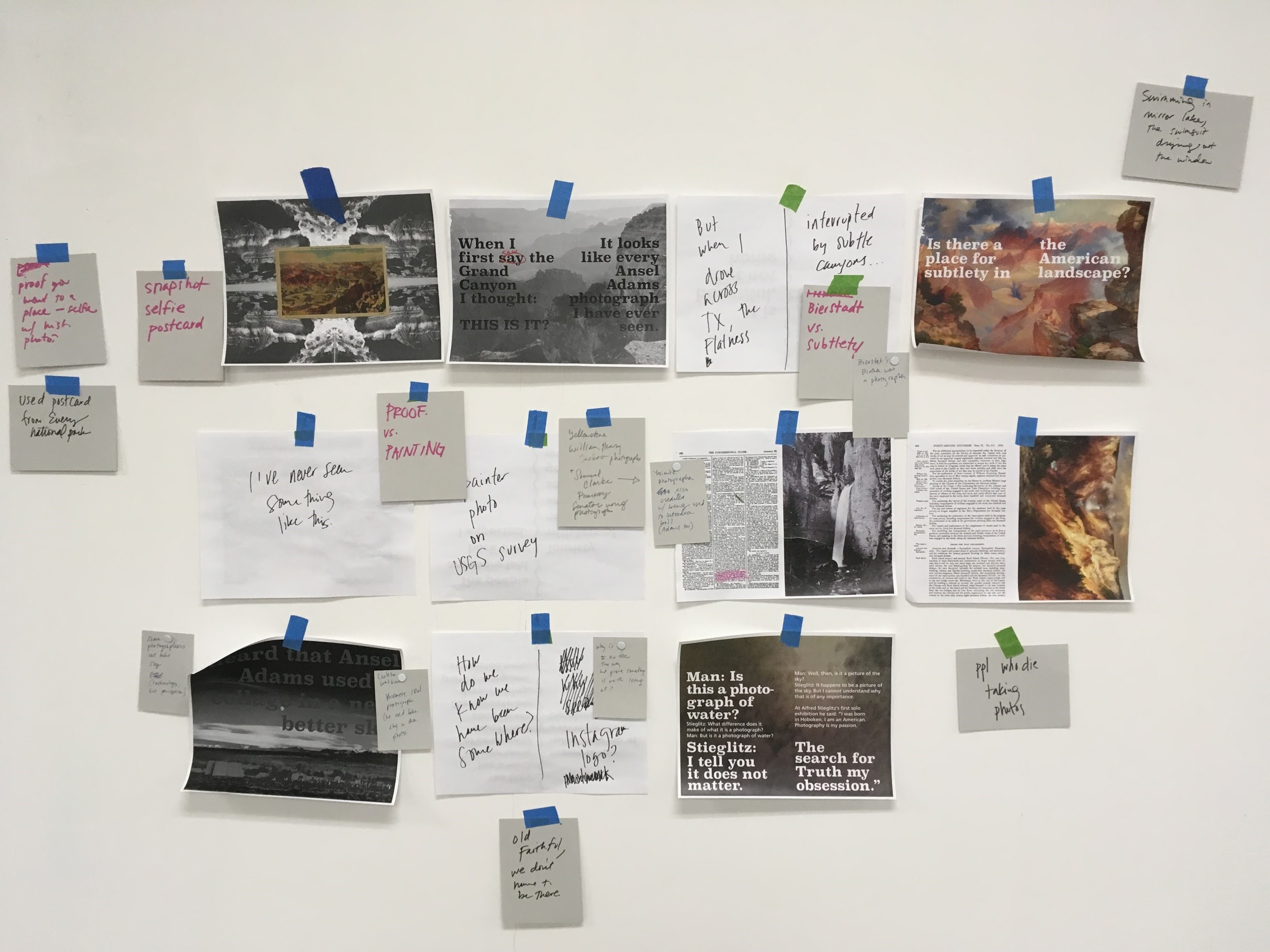 Using wall space to plan out a project
