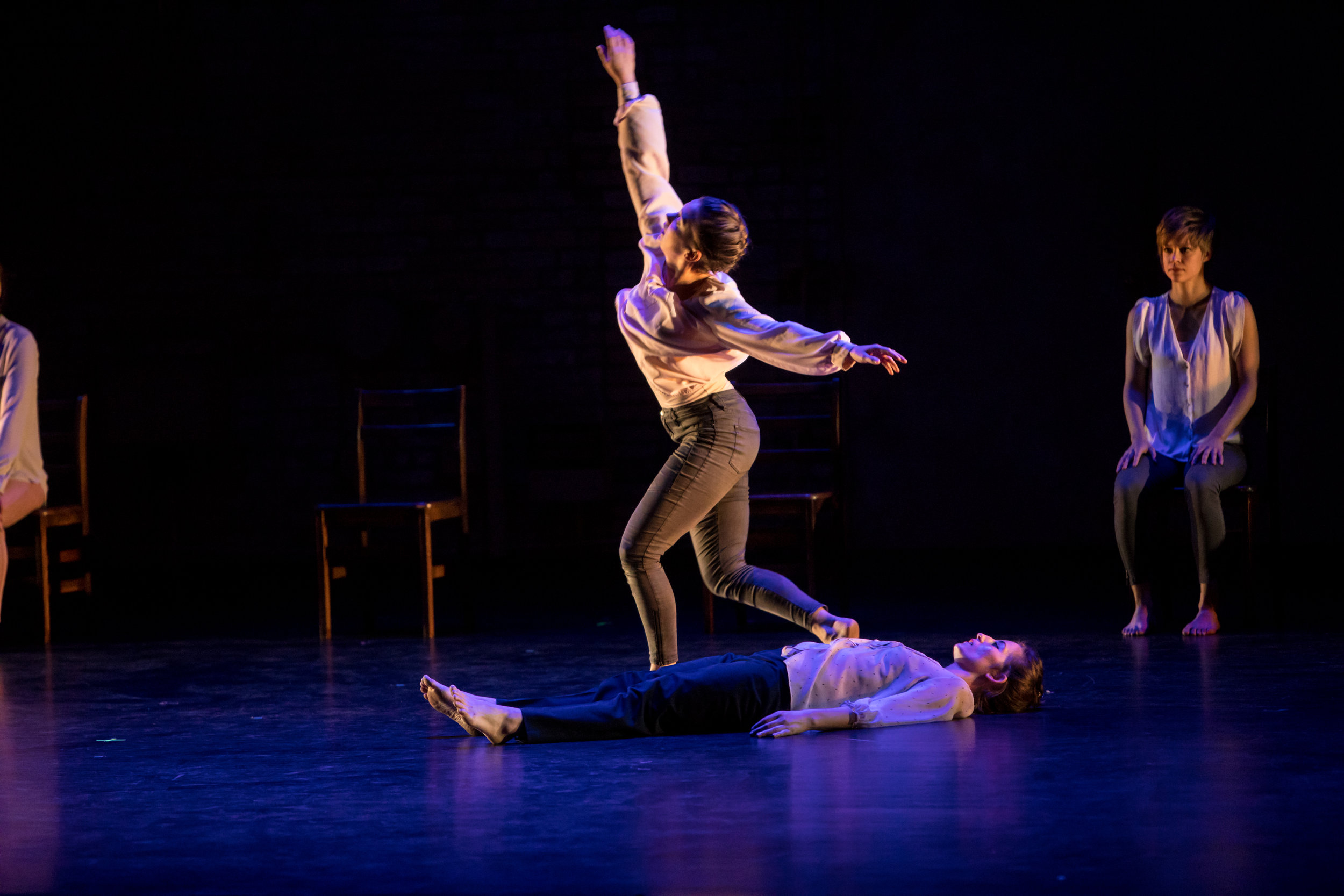 The artist dancing in  Threshold , 2010, by Mathew Janczewski, ARENA Dances.  Performance on 11/10/2018 at the Fitzgerald Theater. Photo by Dan Norman.