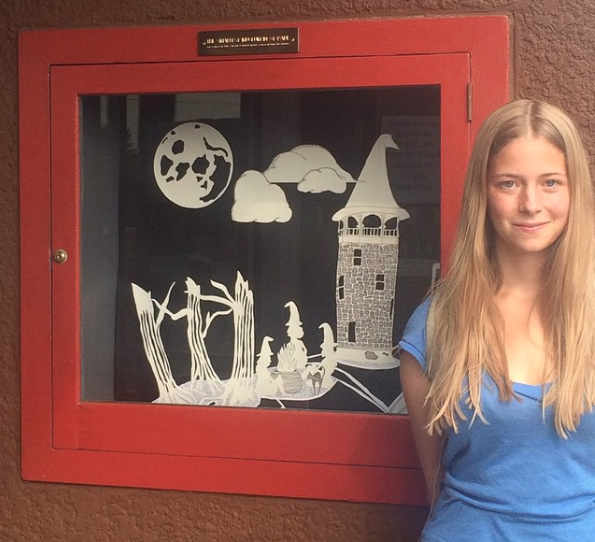 Witches' Hat Water Tower Installation,  The Smallest Museum in St. Paul, 2015