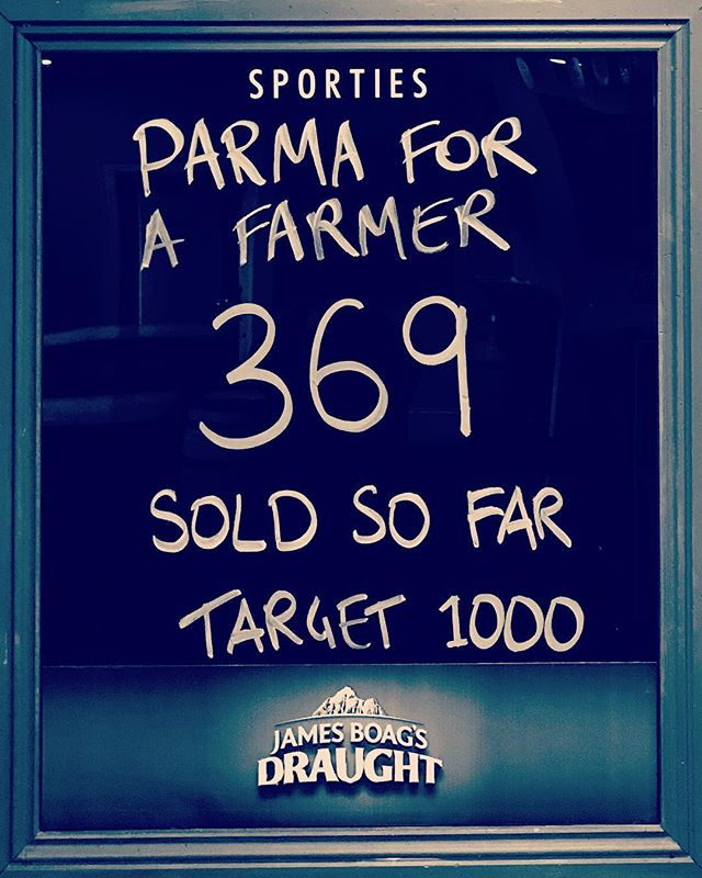 Big week of Parma's @sporties_launceston #parmaforafarmer #parmas #launcestoneats #launcestonbars #buyabale