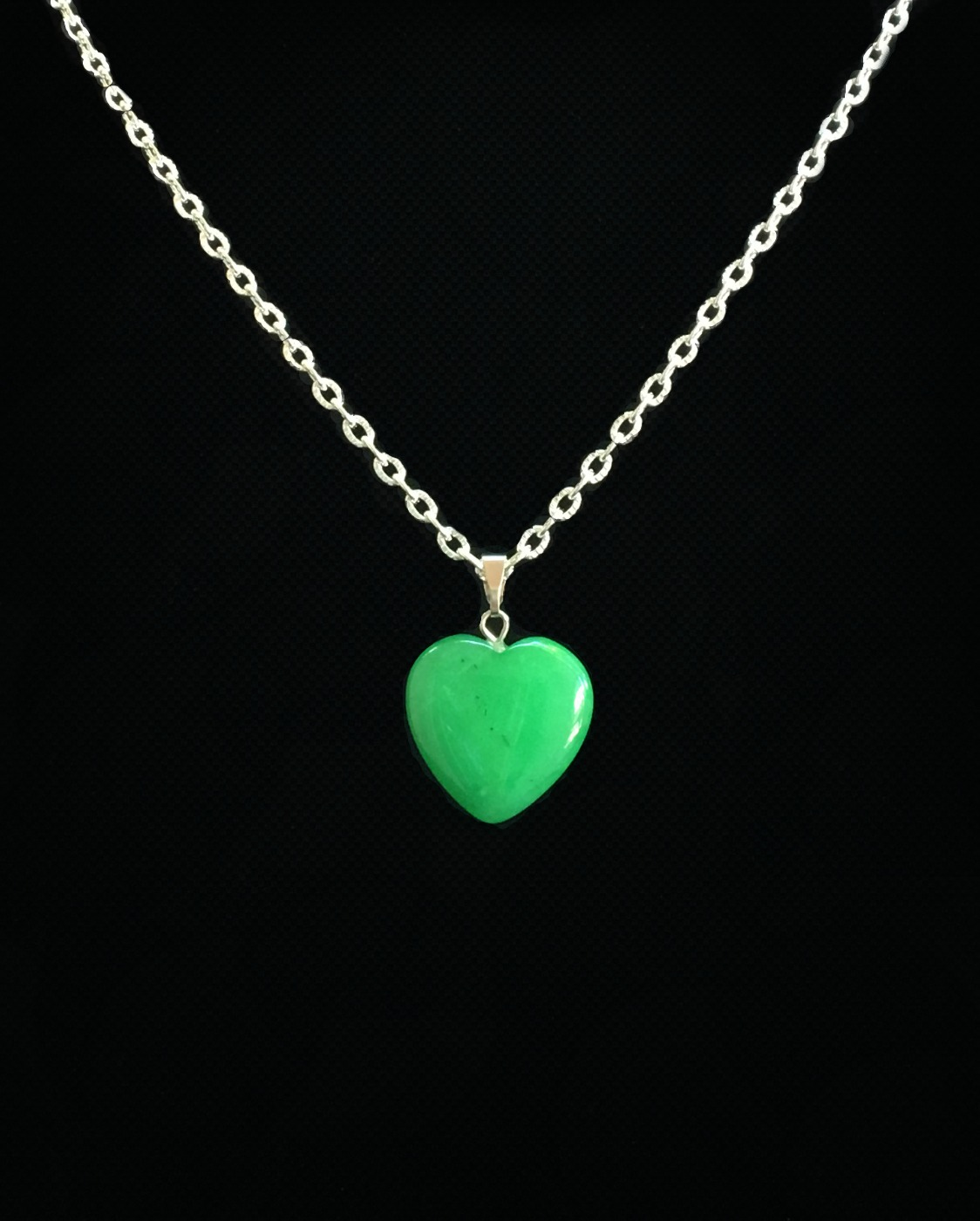 chrysoprase heart