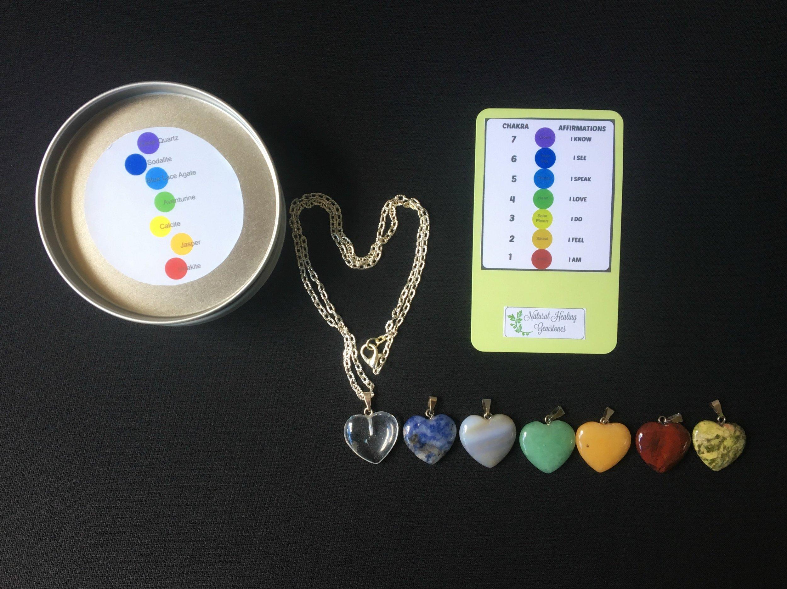 Chakra Healing Heart gift set