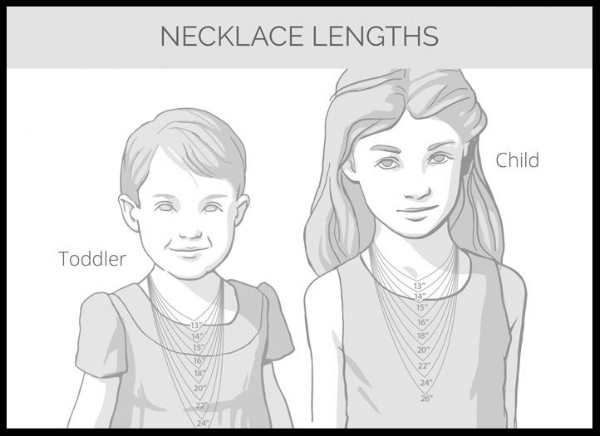 necklace size chart for children