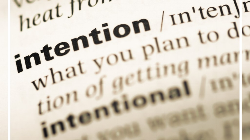 A determination to act in a certain way :resolve - Definition of intention