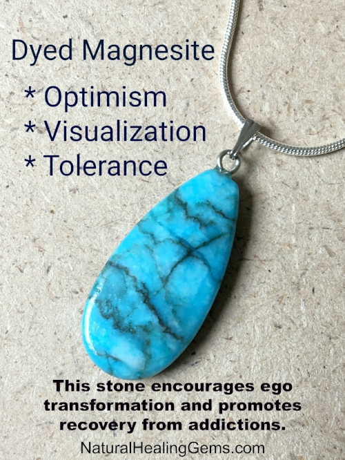 Blue Dyed Magnesite Jewelry