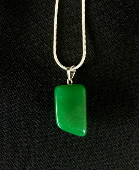 Jade  natural cut pendant