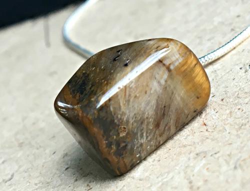Tigers Eye  pillar pendant