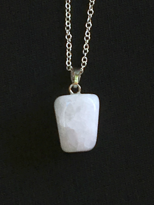 Crackle Agate natural cut pendant