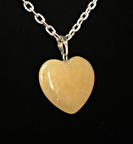 Yellow Aventurine  heart pendant