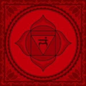 "Muladhara Chakra  Mantra: ""Lam""  Color: Red"