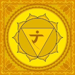 "Manipura Chakra  Mantra: ""Ram"" or ""Aum""  Color: Yellow"