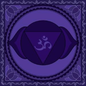 """Ajna Chakra  Mantra: """"Aum""""  Color: Indigo"""