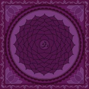 "Sahasrara Chakra  Mantra: ""Om""  Color: Purple"