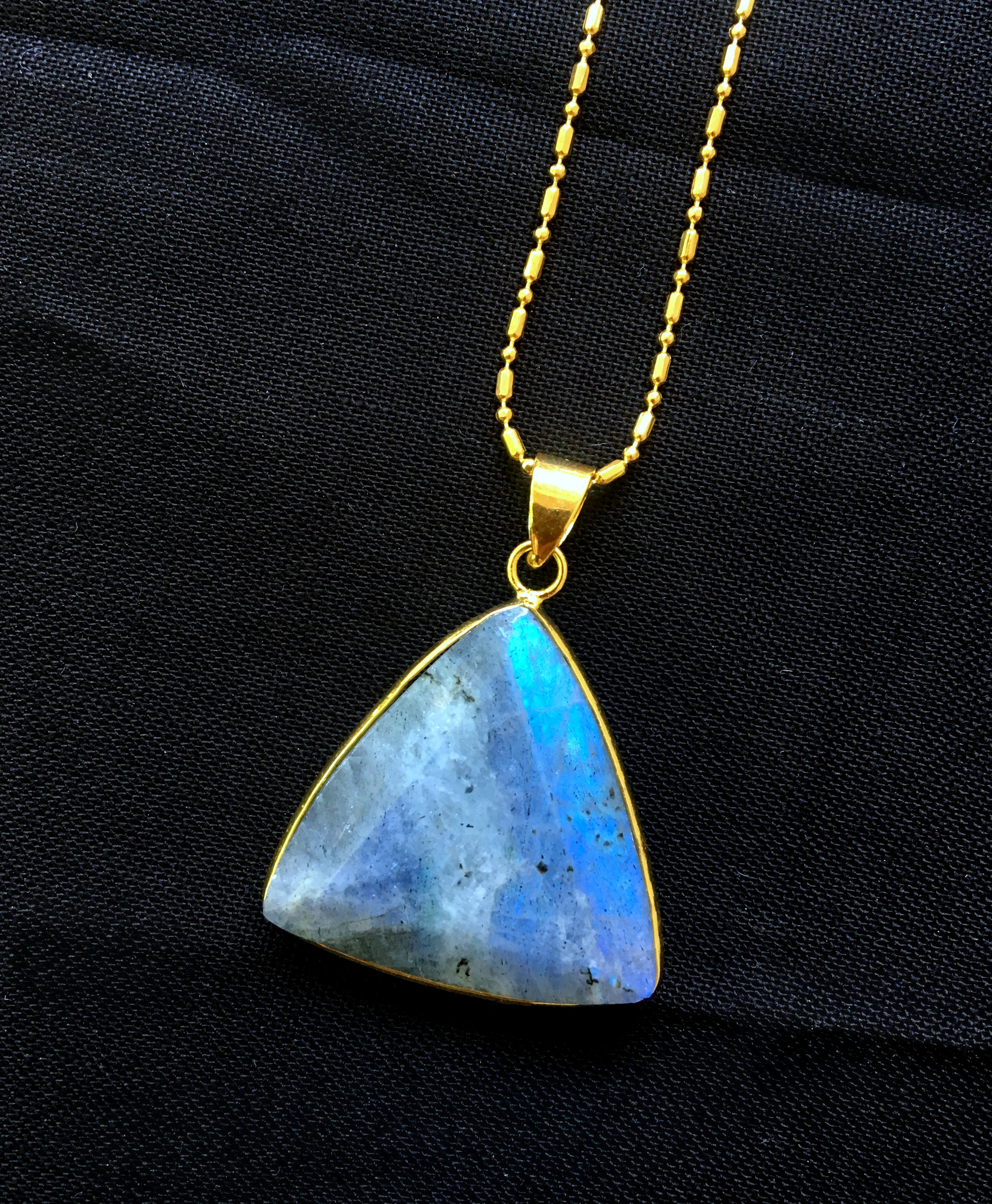 Labradorite gemstone Triangular necklace