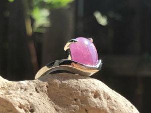 Amethyst  natural cut pendant