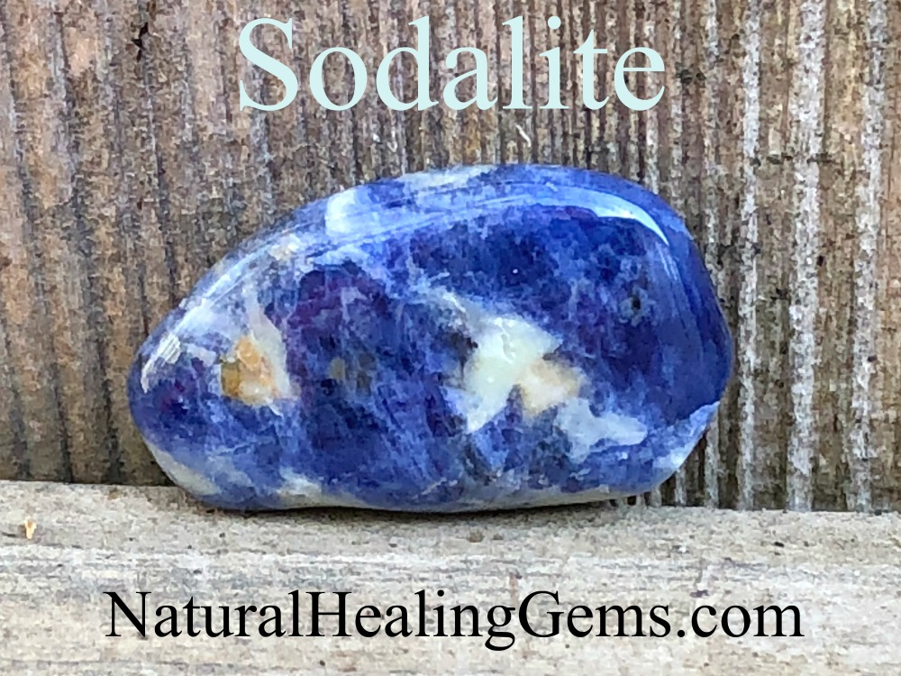 Sodalite helps with the metabolism, immune system, digestion, sore throat, fever, blood pressure, and diabetes. Click on the picture to learn more!