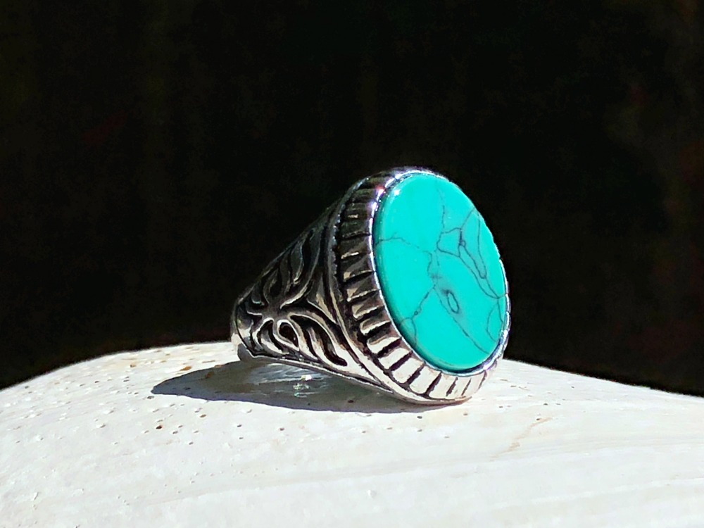 Blue-Green Howlite Ascension ring.jpg