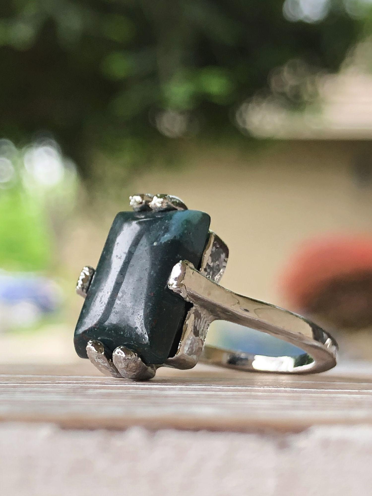 bloodstone women's gemstone ring
